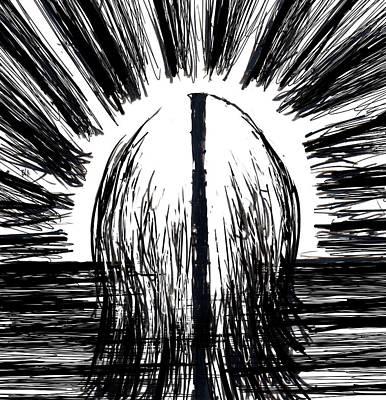 Disturbing Drawing - Schizophrenic by Rachel Christine Nowicki