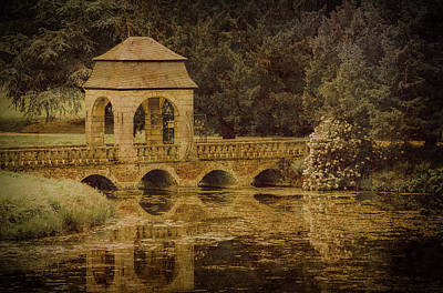 Photograph - Juchen, Germany - Schloss Dyck Baroque Bridge II by Mark Forte
