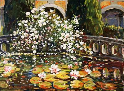 Painting - Schloss Kammer Courtyard by Ingrid Dohm