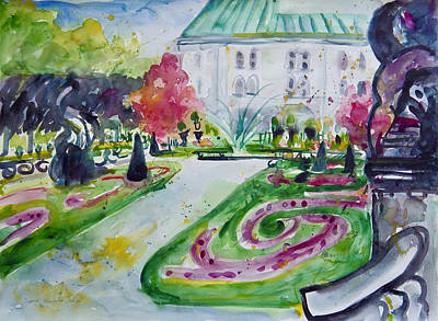 Painting - Schloss Mirabell by Ingrid Dohm
