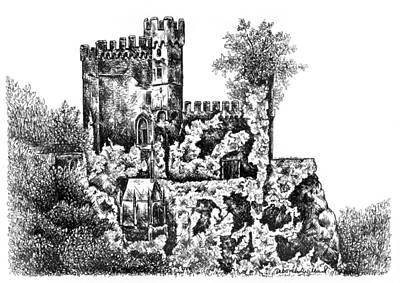 Schloss Rheinstein - Rheinstein Castle Art Print