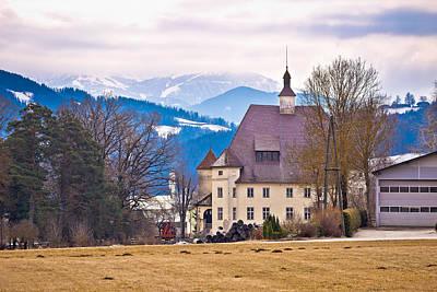 Photograph - Schloss Wiesenau View In Lavanttal  by Brch Photography