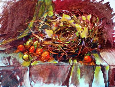 Schmid Painting - Schmid's Birds Nest by Richard Rochkovsky