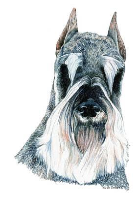 Schnauzer Art Print by Kathleen Sepulveda