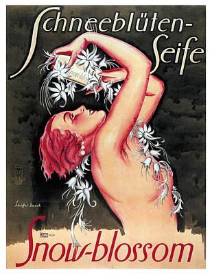 Mixed Media - Schneebluten-seife - Snow Bleed Soap - Vintage Advertising Poster by Studio Grafiikka