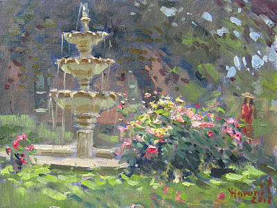 Fountain Wall Art - Painting - Schoellkopf Park by Ylli Haruni