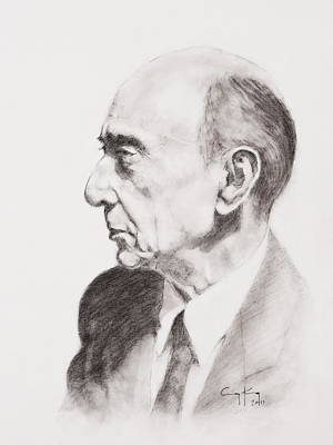 Giclee Drawing - Schoenberg by Craig King