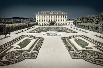 Photograph - Schonbrunn Castle - Side View by Roberto Pagani
