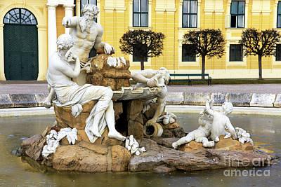 Photograph - Schonbrunn Palace Fountain by John Rizzuto