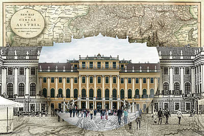 Photograph - Schonbrunn Palace Travel Map Globe by Sharon Popek
