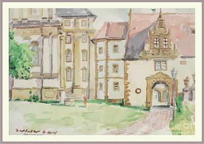 Wurttemberg Painting - Schontal Abbey Germany by Raymond  Zaplatar