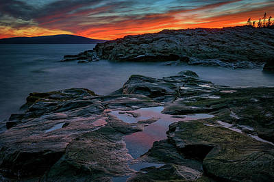 Photograph - Schoodic Afterglow by Rick Berk