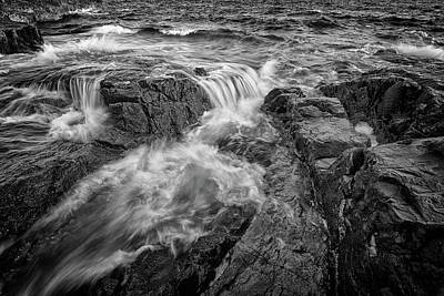 Photograph - Schoodic Point In Black And White by Rick Berk
