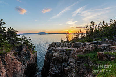 Photograph - Schoodic Point Sunset  by Michael Ver Sprill