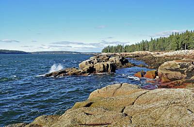 Photograph - Schoodic Points Rocky Beach by Glenn Gordon