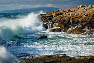 Maine Mountains Photograph - Schoodic Surf by Susan Cole Kelly