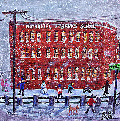 Painting - School Banks Square by Rita Brown