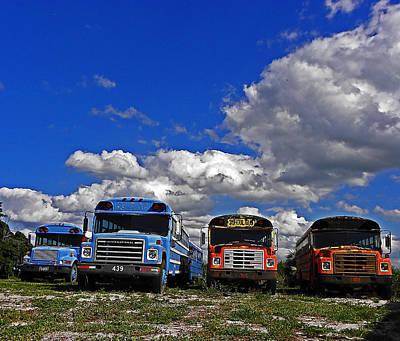 Photograph - School Bus Graveyard I by Elizabeth Hoskinson