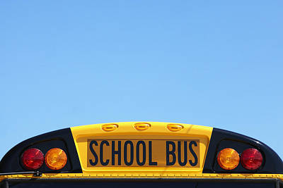 School Bus Photograph - School Bus Rooftop by Skip Nall