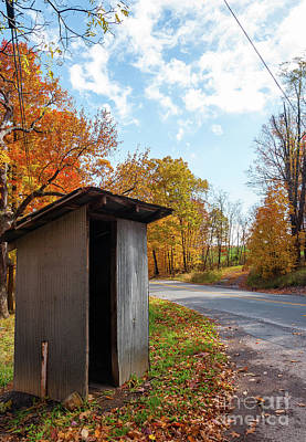 Photograph - School Bus Shelter - Wv by Kathleen K Parker