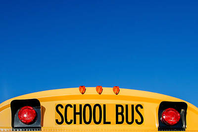 School Photograph - School Bus Top by Todd Klassy