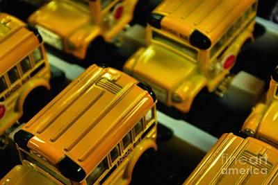 School Buses  Print by John S