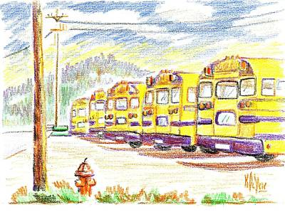 School Bussiness Art Print by Kip DeVore