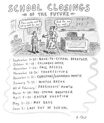 Drawing - School Closings Of The Future by Roz Chast