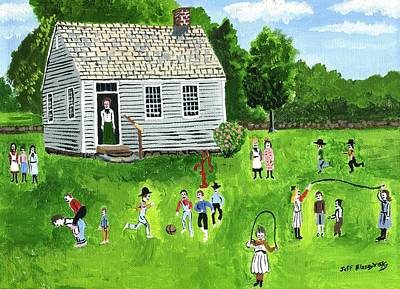 Painting - School Days by Jeff Blazejovsky