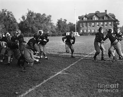 Good Practices Photograph - School Football Team, C.1930s by H. Armstrong Roberts/ClassicStock