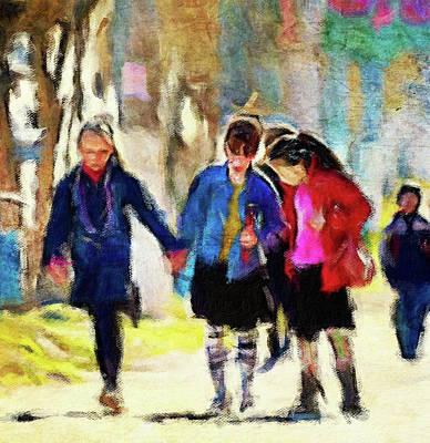 Digital Art - School Friends by Yury Malkov