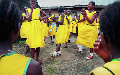 Photograph - School Kids On Recess by Muyiwa OSIFUYE