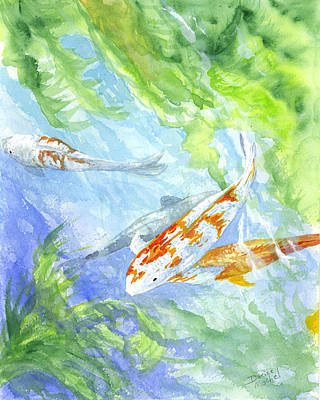 Painting - School Of Koi by Darice Machel McGuire