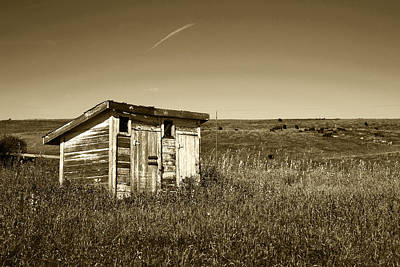 Old Wood Outhouse Photograph - School Outhouse Toilet by Donald  Erickson