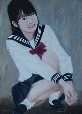 Painting - School Uniform by Masami IIDA