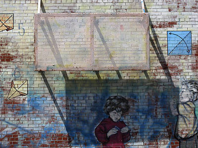 Brick Schools Digital Art - School Wall 2  by Lyle Crump
