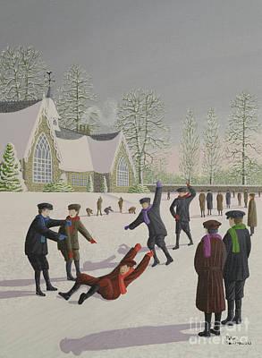 Slide Painting - School Yard Sliding by Peter Szumowski