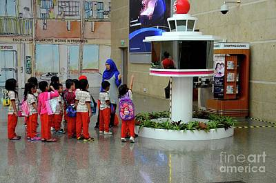 Photograph - Schoolchildren On Field Trip With Teacher To Changi Airport Singapore by Imran Ahmed