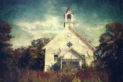 Abandon Photograph - Schoolhouse 1895 by Scott Norris