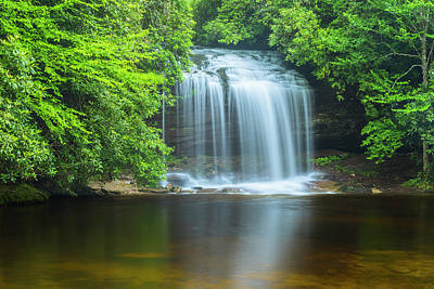 Photograph - Schoolhouse Falls In Nantahala North Carolina by Ranjay Mitra