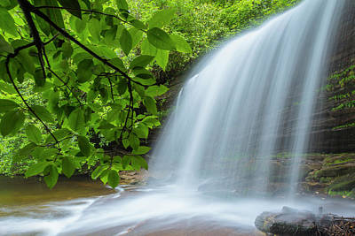 Photograph - Schoolhouse Falls In Panthertown Valley North Carolina by Ranjay Mitra