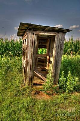Franklin Township Photograph - Schoolhouse Outhouse by Paul Lindner