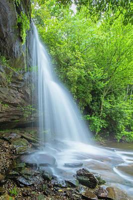 Photograph - Schoolhouse Waterfalls In Nantahala National Forest Of North Carolina by Ranjay Mitra