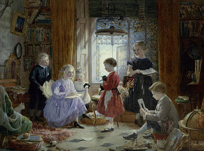 Education Painting - Schooltime by William Jabez Muckley