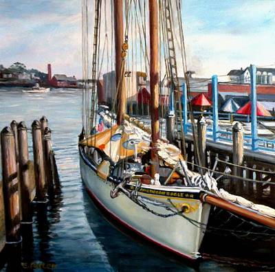 Painting - Schooner American Eagle by Eileen Patten Oliver