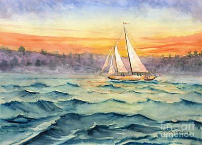 Painting - Schooner At Seneca Lake by Melly Terpening
