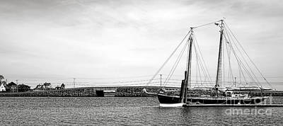 Schooner At The Cribstone Bridge Art Print by Olivier Le Queinec