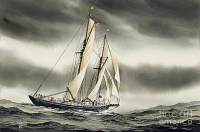 Schooner Blackfish Art Print by James Williamson
