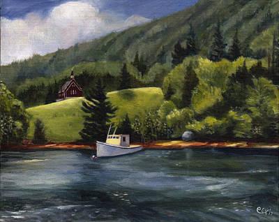 Schooner Cove, Nova Scotia Art Print