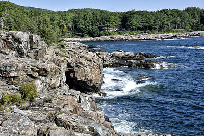 Schooner Head Coast - Acadia National Park Maine Art Print by Brendan Reals